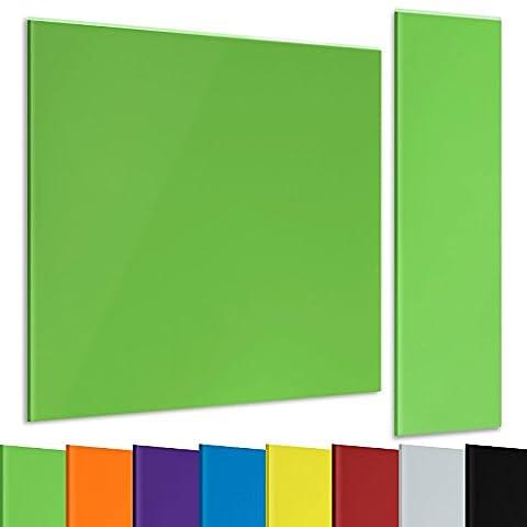casa pura® Glasmagnettafel im modernen Design | beschriftbar & magnethaftend | verschiedene Farben und in 2 Größen | grün 60x20cm
