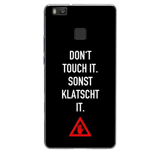 YW&F Schuzhülle für iPhone, Samsung, Sony und HTC - DEIN CASE - Don't touch (Huawei P9 Lite)