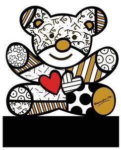 Goebel Truly Yours - Figur Pop Art Romero Britto Bunt Porzellan 66452481 -
