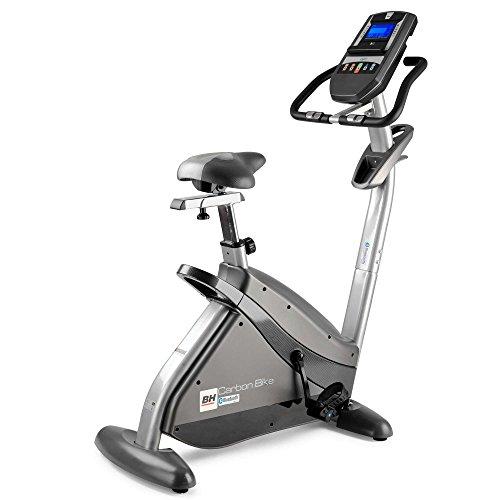 BH Fitness i.CARBON BIKE H8705I Cyclette da camera - 12 programmi prestabiliti - 24 livelli d'intensità