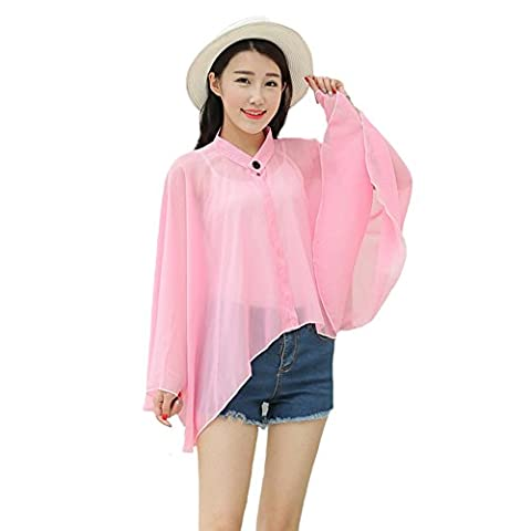 Years Calm - T-shirt - Col en V - Femme 54 - rose - 54