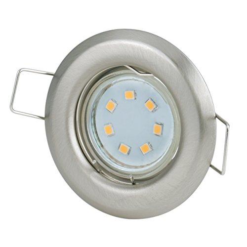 Einbaustrahler Set 230Volt 2,2Watt 180Lumen GU10 Leuchtmittel warmweiss | kleiner Spot Ø60mm | Lochmaß: Ø40-45mm