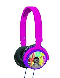 Violetta- Auriculares Estéreo y Casco Audio y Diadema, Color Morado (Lexibook HP010VI)