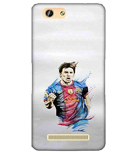 CHAPLOOS For Gionee F103 footballer Printed Cell Phone Cases, football Mobile Phone Cases ( Cell Phone Accessories ), soccer Designer Art Pouch Pouches Covers, waterart Customized Cases & Covers, barcelona Smart Phone Covers , Phone Back Case Covers By Cover Dunia