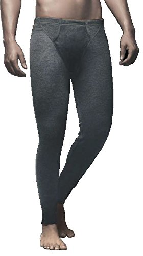 Chromozome Men Charcoal Premium Thermal Long Johns Pant TH-03 (Charcoal, 90-95 cm / Large) image