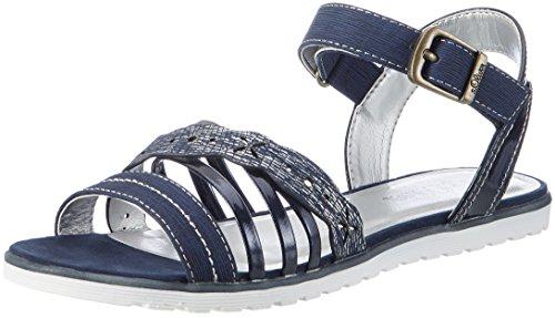 s.Oliver Mädchen 58205 Offene Sandalen mit Keilabsatz, Blau (Navy 805), 38 EU