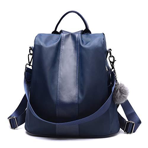 Seturrip - Leder Anti-Dieb Frauen Rucksack Große Kapazität Haar Kugel Schultasche für Teenager Mädchen Male Reisetaschen [blau] (Michael Cover Kors Laptop)