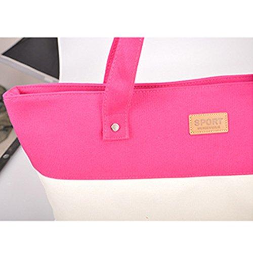 YKD Canvas Bag riutilizzabili Sack Stripe scuola borse di tessuto dipinto Shopper Tote tasca A4 cerniere borse per donna vendita YZ6-Green Green