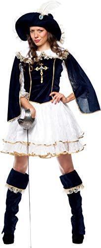 chiber Disfraces Musketiere Damen Kostüm (XL - - Mousquetaire Kostüm
