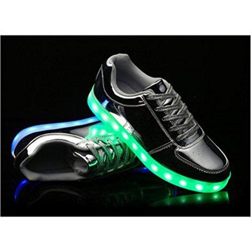 (Present:kleines Handtuch)JUNGLEST® Kinder Jungen Mädchen LED Schuhe Leuchtend Sneaker Farbwechsel Fluorescence Turnschuhe Sportsschu c16