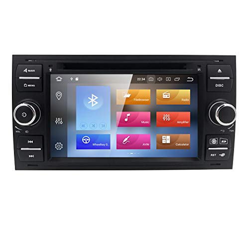 HIZPO Android 8.0 Car DVD Player Quad Core System 4GB RAM Car Stereo for Ford Focus Mondeo S-Max C-Max Galaxy Support GPS Navigation 4G WiFi SWC DVD Radio Screen Mirror ...