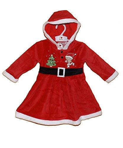 Baby Mädchen Miss Santa Kleid bis Weihnachten Outfit Alter (Kleider Mrs Santa)
