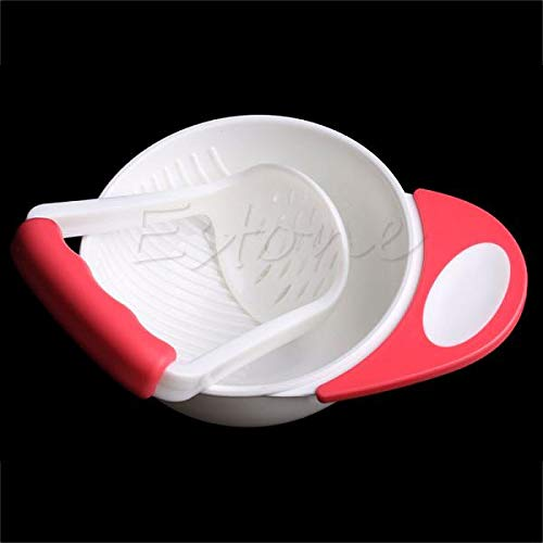 XTYaa Baby Food Dishes Grinding Bowl Kinder Hand Mahlwerk Supplement Mill rot Die Bowl Mill