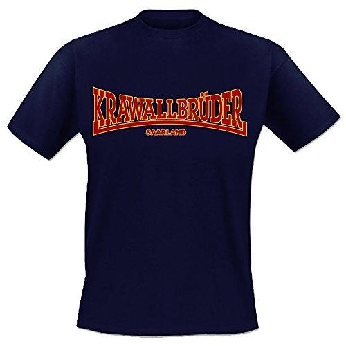 Krawallbrüder - Lonsdale Saarland T-Shirt verschiedene Farbvariationen Navy