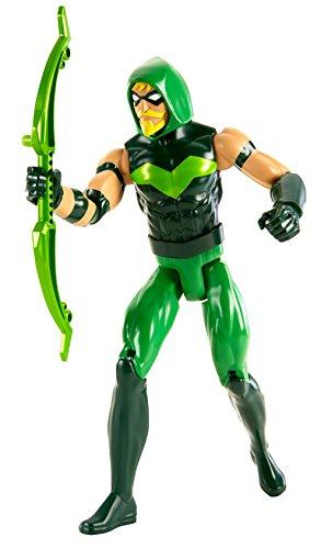 Mattel FBR06 - DC Justice League Basis-Figur Green Arrow, Aktionsspielzeug, 30 cm (Green Lantern Anzug)