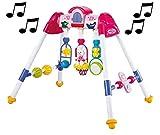 Babymix Spieltrapez für Babys mit Musik, fröhlicher Spielebogen für Babys, pink 6922