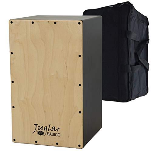 Cajón Flamenco Adulto Juglar Básico + Funda | Cuerpo en DM de 7mm. y Tapa de Abedul Finlandés de 3,5mm.