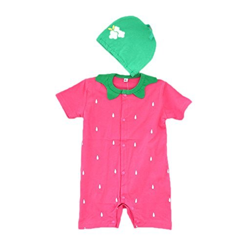 Samber Baby Clothing Sets Cute Cartoon Rompers With Hat Short SleeveJumpsuit (S