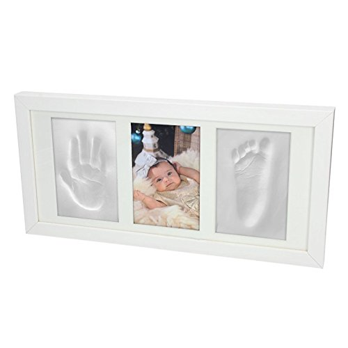 baby-3d-gips-set-abdruck-handabdruck-fuabdruck-abform-gipsabdruck-bilderrahmen-weiss