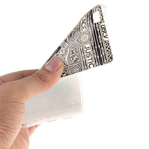 Huawei P8 Lite hülle MCHSHOP Ultra Slim Skin Gel TPU hülle weiche weiche Silicone Silikon Schutzhülle Case für Huawei P8 Lite - 1 Kostenlose Stylus (mandel blumen baum mit blauem hintergrund (almond f Blumen Tribal Aztec (Flower Tribal Aztec)