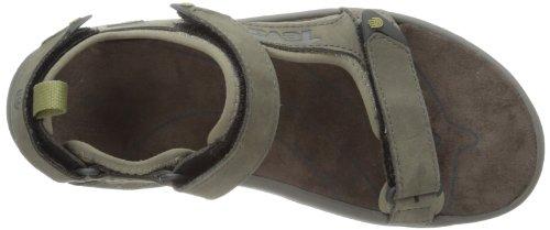 Teva Tanza Leather, Sandales homme Grigio (Grau (walnut 646))