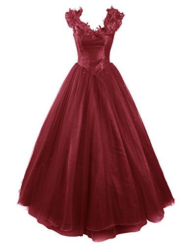Dresstells, Robe de Cendrillon, robe de cérémonie/soirée/bal longueur ras du sol, mode de bal Bordeaux