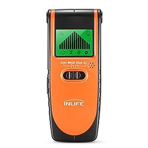 Detector de Madera Perno de Metal Cables de AC InLife Stud Finder Detector Digital con 5 Modos para Diferentes Paredes Pantalla LCD