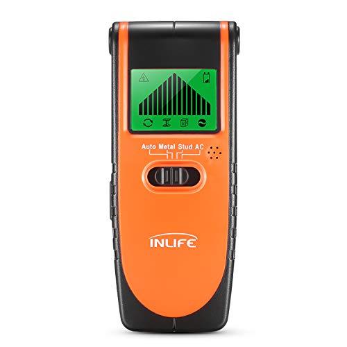 Detector de Pared, InLife Detector de Metal, Madera y AC Cable, Escáner de Pared Clásico y Multifuncional...