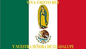 magFlags Drapeau Large Mexico Flag Cristeros | Such as this one were used by the Cristeros when resisting the secular government forces in the Cristero War | Utilizado por los Cristeros en la Guerra