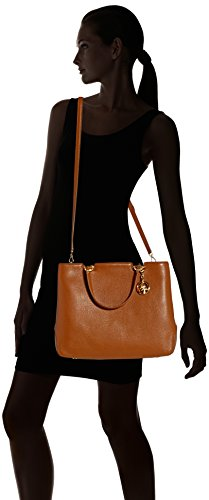 Michael Kors Anabelle Pebble Leather Large Tote Bag Marrone