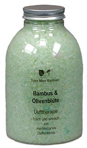 Totes Meer Natur Badesalz BAMBUS & OLIVENBLÜTE 630 gr. beduftet mit hochwertigen Parfümölen - Belebende Bade-salz