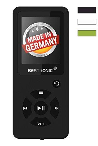 BERTRONIC Made in Germany BC03 Royal MP3-Player ★ Bis 100 Stunden Wiedergabe ★ Radio | Portabler Player mit Lautsprecher | Audio-Player für Sport mit Micro SD-Kartenslot