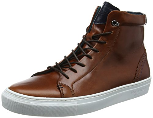 Ted Baker Monerrk, Sneaker a Collo Alto Uomo Marrone (Dark Tan #a52a2a)