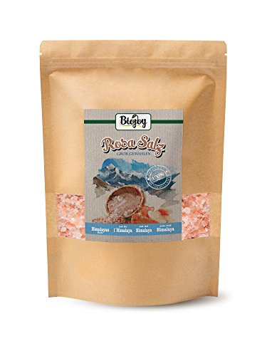 Rosa Salz grob 2-5 mm für Salzmühle | bekannt auch als Himalaya Salz | Ur-Kristall-Salz aus Salt range | (2 kg) - Salz-kristalle
