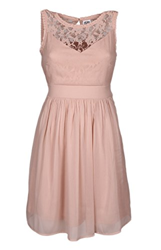 VERO MODA Damen VMAYA S/L Mini Dress NOOS Kleid, Rosa Rose Dust, 36 (Herstellergröße: S)