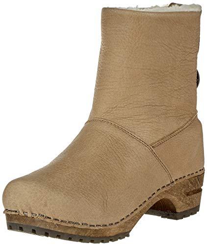 Sanita Damen Wood silkan Low Boot Schlupfstiefel, Beige (Nature 14), 42 EU