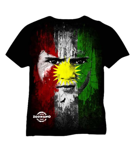 Zoonamo T-Shirt Kurdistan Classic, Farbe:schwarz;Größe:S