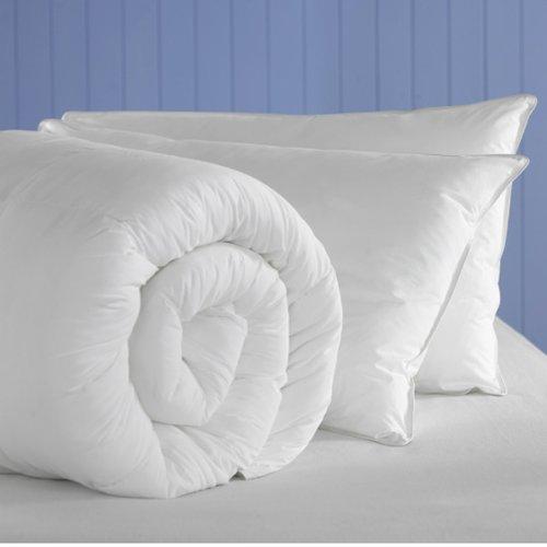 Federbett aus Poly-Baumwollgewebe, Polyester und Hohlfaser Bettdecke Duvet., 15,0 Tog, Super-King-Size-Betten, mit 2 Kissen, hergestellt von Bouncy Sleep Smile (King-size-bett Kissen)