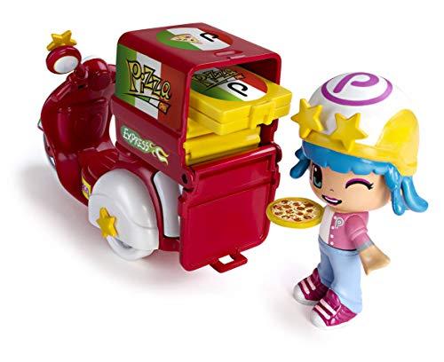 Pinypon - Moto de Pizzería, con 1 Figura, niños y niñas de 4 a 8 años