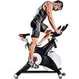 Sportstech SX500 Bicicleta Estática Profesional con Control de Aplicaciones por Smartphone, Soporte alcochado para Brazos, pulsometro Compatible, pedestale con Sistema SPD Click