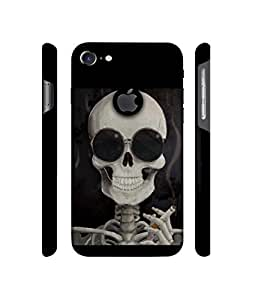 NattyCase Skull Design 3D Printed Hard Back Case Cover for Apple iPhone 7 (With Logo Cut)