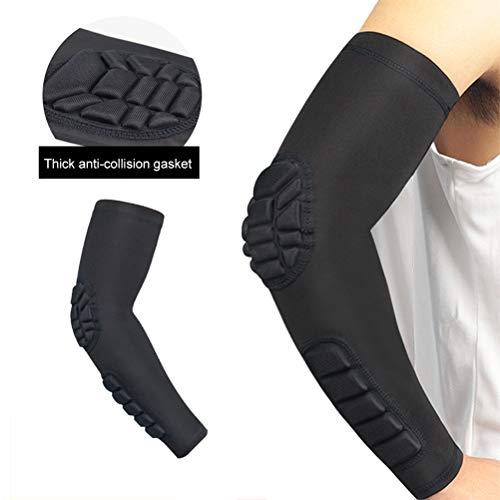 Egosy Ellenbogenschoner Kompression Contact Arm Sleeves Gepolstert Elastische Ellenbogenbandagen Ellenbogenbandage für Fußball, Basketball