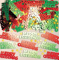 Amscan Merry Christmas Metallic-Konfetti