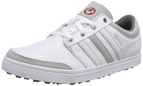 adidas Herren Adicross Gripmor Golfschuhe, Weiß (White/White/Light Scarlet), 46 EU (Golf Club Outlet)