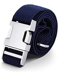 AWAYTR Cinturón para niños pequeños Estiramiento ajustable elástico para cinturones para niñas con hebilla fácil de aleación de zinc
