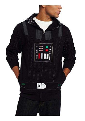 Star Wars Men's Sith Full Face Fleece Hoodie Kapuzenpullover Kapuzenjacke Hoodie Pullover mit Kapuze Cosplay Kostuem - Hoodie Star Wars Kostüm