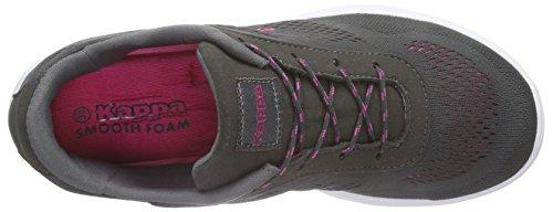 Kappa Delhi Footwear Unisex, Mesh, Low-Top Sneaker femme gris (1322 anthra/pink)