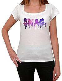 Swag, tee shirt femme, imprimé célébrité,Blanc, t shirt femme,cadeau