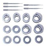 Lazder - 1 juego de moldes de resina epoxi para anillos de silicona, 3 tamaños, para joyería, 16/16,6 a 17 mm, hecho a mano, accesorios de regalo, herramientas de fundición
