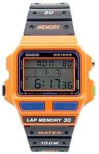 Casio - SDB-500WB-4AV - Montre Homme - Quartz Digitale - Chronomètre/Alarme/Eclairage - Bracelet Caoutchouc Noir